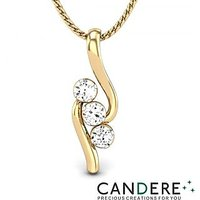 Candere Diamond Pendant In 18K Yellow Gold (Design 42)
