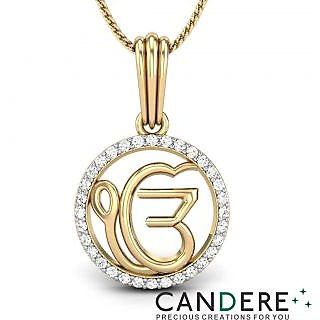 Candere Diamond Pendant In 18K Yellow Gold (Design 52)