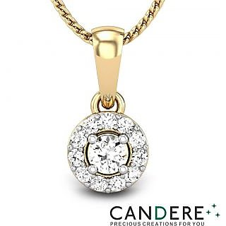 Candere Diamond Pendant In 18K Yellow Gold (Design 38)