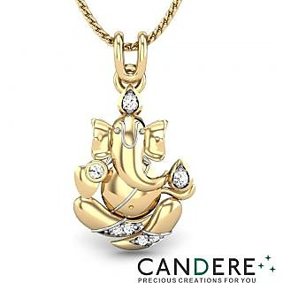 Candere Diamond Pendant In 18K Yellow Gold (Design 35)