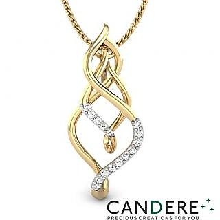 Candere Diamond Pendant In 18K Yellow Gold (Design 36)