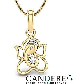 Candere Diamond Pendant In 18K Yellow Gold (Design 18)