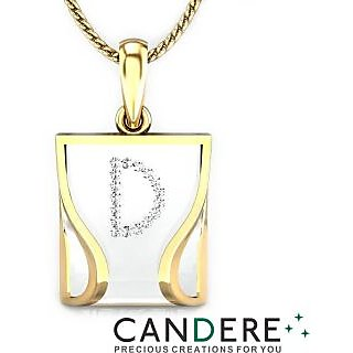 Candere Diamond Pendant In 18K Yellow Gold (Design 134)