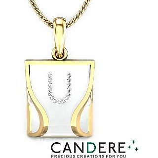 Candere Diamond Pendant In 18K Yellow Gold (Design 116)