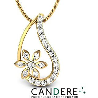 Candere Diamond Pendant In 18K Yellow Gold (Design 61)