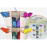 The Smart Carousel Organizer - 3 Shelves, 24 Pockets