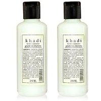 Khadi Natural Herbal Greentea  Aloevera Hair Conditioner - 210ml (Set of 2)