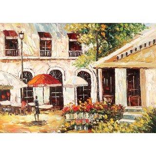 Mesleep Painted House Canvas