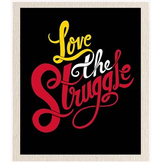 Mesleep Love Struggle Cotton Canvas