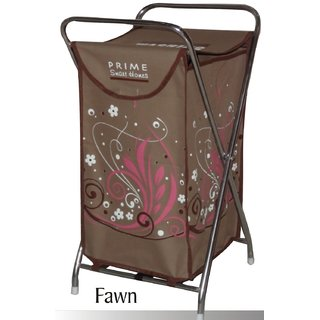 Laundry Bag Curls Fawn With Steel Frame & Designer Printed