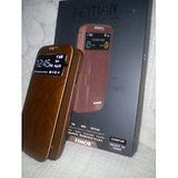Leather Flip Cover For Samsung Galaxy S4 I9500 Brown