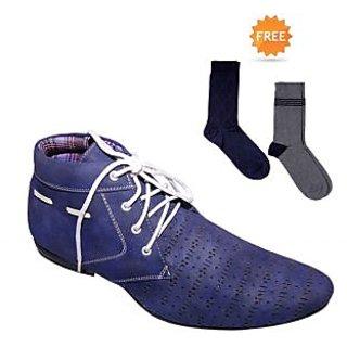 Fundoo-T Blue Men's Boot Shoes
