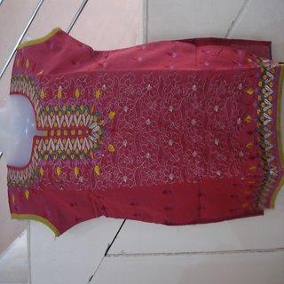 Red Embroidery Kurta