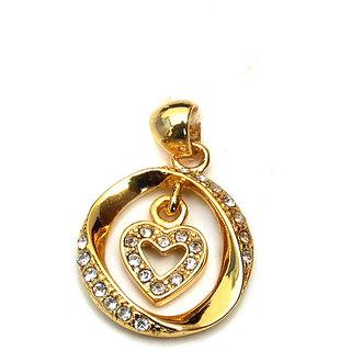 Estelle Alloy & Cubic Zirconia Golden Pendant Only (631ESPD)