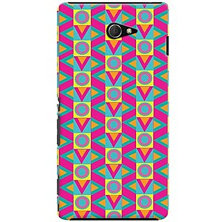Kasemantra Abstract Case For Sony Xperia M2