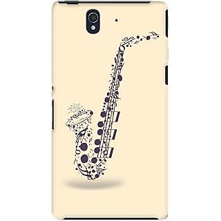 Kasemantra Saxophone With Notes Case For Sony Xperia Z