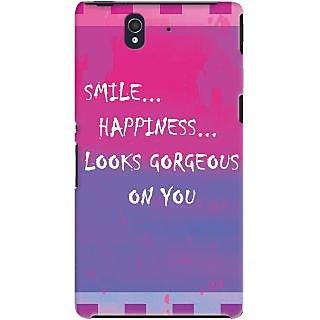 Kasemantra Smile Quote Case For Sony Xperia Z