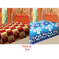 Swank  Pack  Of 2 Color's Polar Fleece Ac Blanket GKC144