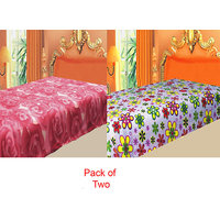 Swank  Pack  Of 2 Color's Polar Fleece Ac Blanket GKC1446