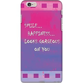 Kasemantra Smile Quote Case For Apple Iphone 6 Plus