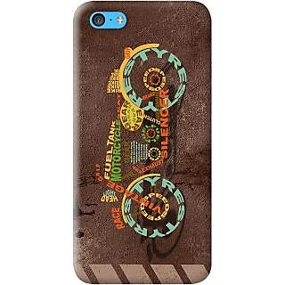 Kasemantra Bike Typography Case For Apple Iphone 5C