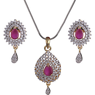 Designer Multi-Coloured Pendant Set (Design 1)