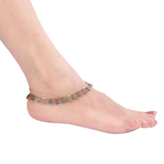 Designer Golden Anklet (Design 5)