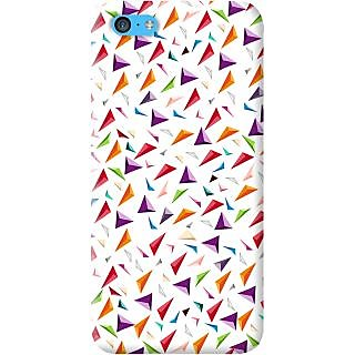 Kasemantra 3D Triangles Case For Apple Iphone 5C
