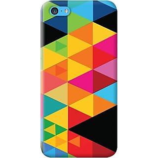 Kasemantra Multi Color Triangle Case For Apple Iphone 5C