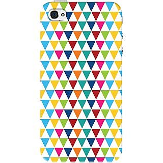 Kasemantra Triangle Pattern Case For Apple Iphone 4-4S