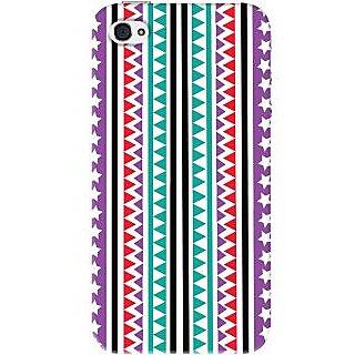 Kasemantra Tribal Print Case For Apple Iphone 4-4S