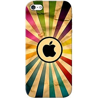 Kasemantra Apple In Rainbow Case For Apple Iphone 5-5S