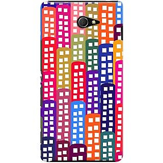 Kasemantra Multicoloured Lights Case For Sony Xperia M2 LTE D2303