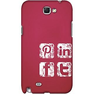 Kasemantra Social Media Icons Case For Samsung Galaxy Note 3 N9000