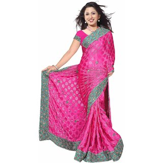 Georgette Embroidered Saree available at ShopClues for Rs.4500