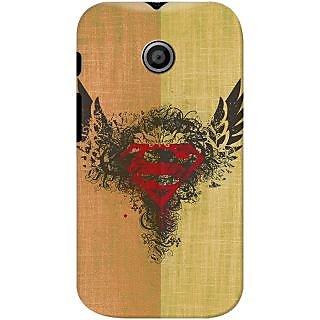 Kasemantra Superman Logo Case For Motorola Moto E