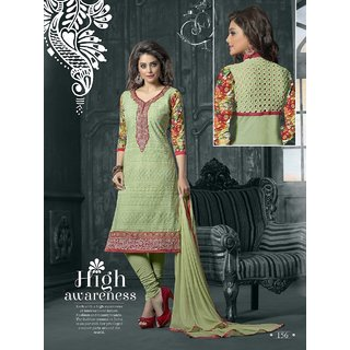 Admire18 Embroidered Heavy Designer Partywear Straight Suit 156