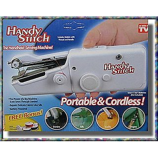 Handheld Sewing Machine Portable Cordless Stitch Anywhere Quick Repairs