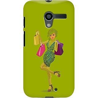 Kasemantra Shopaholic Girl In Apple Green Case For Moto X
