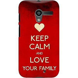Kasemantra Keep Calm And Love Your Family Case For Moto X
