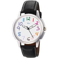 The Floyd Round Dial Black Leather Strap Quartz Watch For Men