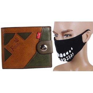 Jstarmart Designer Wallet Combo Half Face Mask JSMFHWT0447