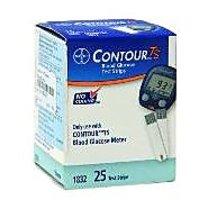 Bayer Contour TS Blood Glucose-  25 Test Strips