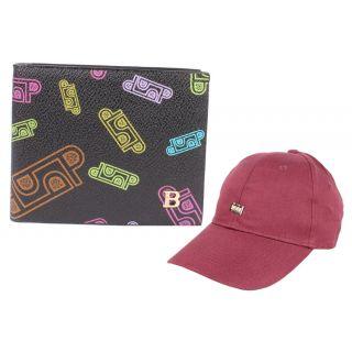 Jstarmart Black Wallet Combo Cap JSMFHWT0456