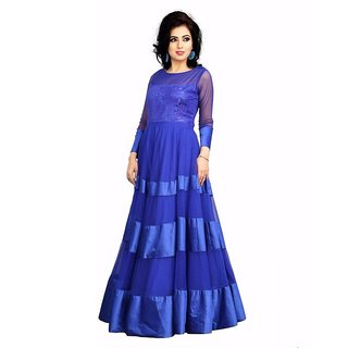 Blue Designer Party Wear Gown, Pariniti
