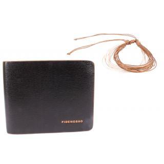 Jstarmart Fashion Black Wallet Combo Wrist Band  JSMFHWT0468