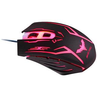 Havit MS801 USB Mouse Pink and black