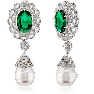 Pearly Drop Earrings White