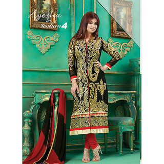 Diva Devine Cotton Embroidered With Chiffon Salwar Suit Dupatta Material