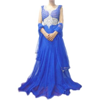 DESIGNER LONG ROYAL BLUE GOWN 8106/40